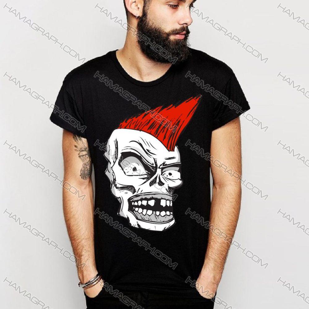 تی شرت آستین کوتاه مردانه مشکی طرح اسکلت | فروشگاه اینترنتی هاماگراف