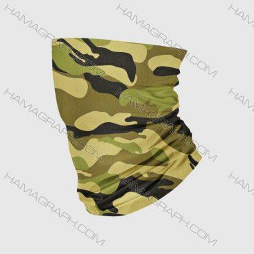 دستمال سر مردانه پلنگی خاکی
