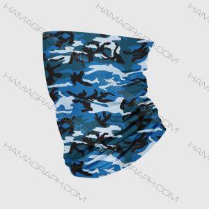 دستمال سر مردانه نظامی طرح آبی