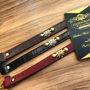 دستبند چرم طرح witcher wolf