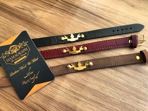 دستبند چرم اسپرت مدل crown
