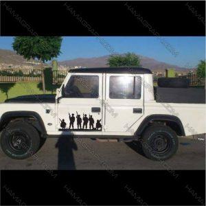برچسب خودرو مدل نظامی آفرودی