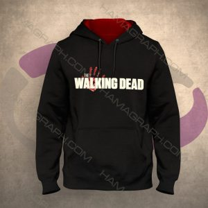 سویشرت مردانه جدید مدل The walking Dead سویشرت کلاه دار بدون زیپ خرید هودی مردانه سویشرت