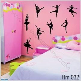 استیکر دیواری اتاق کودک دخترک Hm 032