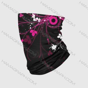 دستمال سر دخترانه pink flower | بهنرین دستمال سر و اسکارف دخترانه با بهترین کیفیت چاپ و پارچه با دوخت لبه ها جهت جلوگیری از نخ کش شدن فقط در هاماگراف !