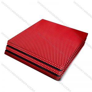 اسکین کربن برجسته red carbon | اسکین قرمز کربن ps4 قابل سفارش برای مدلهای pro و fat و slim با بهترین کیفیت در هاماگراف. اسلیم. پرو. فت. معمولی ایکس باکس
