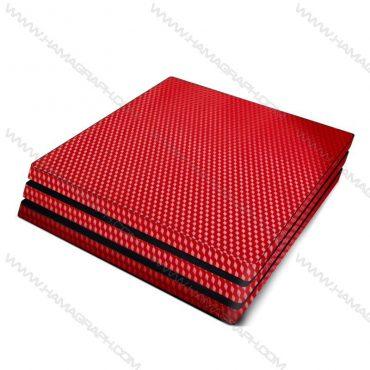 اسکین کربن برجسته red carbon   اسکین قرمز کربن ps4 قابل سفارش برای مدلهای pro و fat و slim با بهترین کیفیت در هاماگراف. اسلیم. پرو. فت. معمولی ایکس باکس