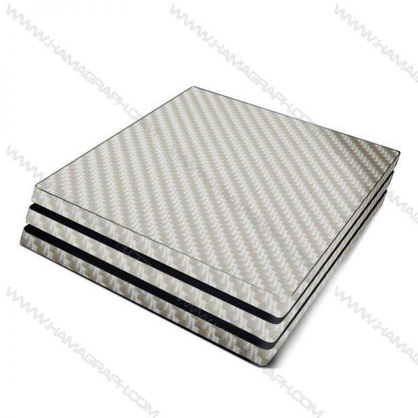 اسکین کربن برجسته silver carbon | اسکین نقره ایکربن ps4 قابل سفارش برای مدلهای pro و fat و slim با بهترین کیفیت در هاماگراف. اسلیم. پرو. فت. معمولی ایکس