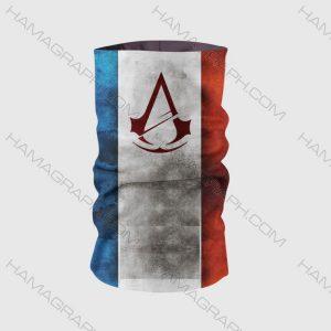 اسکارف طرح assassin creed | اسکارف اساسین کرید ماسک صورت اساسین کرید assassin creed دستمال سر گیمینگ با بهترین پارچه و کیفیت چاپ فقط در هاماگراف !