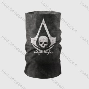 اسکارف طرح اساسین کرید | اسکارف اساسین کرید ماسک صورت اساسین کرید assassin creed دستمال سر گیمینگ با بهترین پارچه و کیفیت چاپ فقط در هاماگراف !