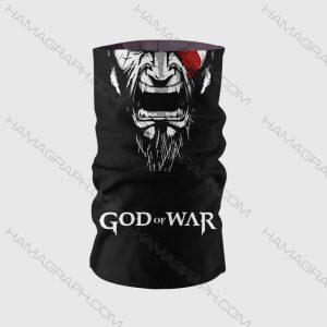 ماسک صورت طرح god of war | اسکارف خدای جنگ ماسک صورت god of war ماسک gow دستمال سر گیمینگ با بهترین پارچه و کیفیت چاپ فقط در هاماگراف !