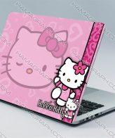 اسکین بدنه لپ تاپ طرح Hello Kitty   استیکر دخترانه لپ تاپ ایسوس استیکر لپ تاپ لنوو برچسب لپ تاپ ایسوس استیکر لپ تاپ استیکر کیبورد استراحتگاه لپ تاپ