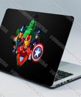 استیکر بدنه لپ تاپ avengers   با کیفیت ترین و بهترین جنس اسکین های لپ تاپ از جنس pvc دو لایه بدون کوچکترین آسیب به دستگاه شما.اسکین طرح اونجرز