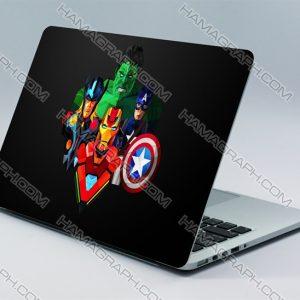 استیکر بدنه لپ تاپ avengers | با کیفیت ترین و بهترین جنس اسکین های لپ تاپ از جنس pvc دو لایه بدون کوچکترین آسیب به دستگاه شما.اسکین طرح اونجرز