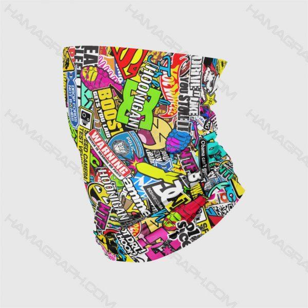 اسکارف باف طرح فانتزی funy pat | اسکارف طرح فانتزی بهترین و با کیفیت ترین اسکارف ها با دوخت لبه ها جهت جلوگیری از پاره شدن فروشگاه اینترنتی هاماگراف