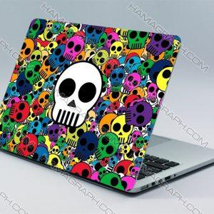 برچسب بدنه لپ تاپ طرح اسکلت رنگی | با کیفیت ترین و بهترین جنس اسکین های لپ تاپ از جنس pvc دو لایه بدون کوچکترین آسیب به دستگاه شما.اسکین طرح اسکلت