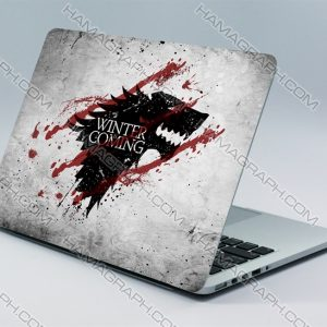 استیکر بدنه لپ تاپ طرح Game of Thrones | با کیفیت ترین و بهترین جنس اسکین های لپ تاپ از جنس pvc دو لایه بدون کوچکترین آسیب به دستگاه شما.اسکین طرح GOT