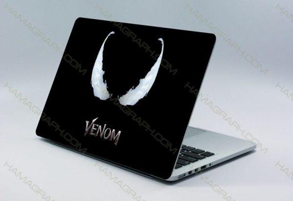 اسکین پشت لپتاپ venom   قابل سفارش با طرح دلخواه-طرح ونوم استیکر لپ تا پبرچسب لپ تاپ اسکین لپ تاپ خرید استیکر لپ تاپ اسکین دولایه هاماگراف