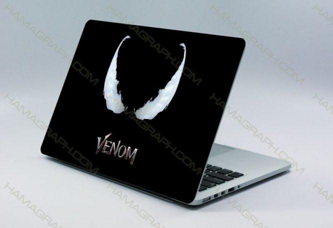 اسکین پشت لپتاپ venom | قابل سفارش با طرح دلخواه-طرح ونوم استیکر لپ تا پبرچسب لپ تاپ اسکین لپ تاپ خرید استیکر لپ تاپ اسکین دولایه هاماگراف