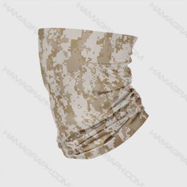دستمال سر و گردن چریکی brown pixel | تولید عمده اسکارف با طرح اختصاصی و سفارشی | انواع دستمال سر و گردن | باندانا | باف | بهترین کیفیت چاپ