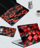 ست کامل لپ تاپ طرح magic Cubes | اسکین لپ تاپ ایسوس اسکین لپ تاپ با طرح دلخواه اسکین لپ تاپ hp چاپ اسکین لپ تاپ برچسب اسکین کیبورد و اطراف کیبورد