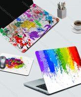 اسکین کامل لپ تاپ crazy painter - اسکین طرح رنگی رنگی - اسکین