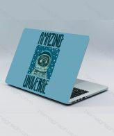 اسکین پشت لپ تاپ amaze universe - اسکین فضانورد - اسکین