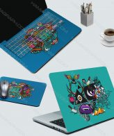 اسکین کامل لپ تاپ blue world - اسکین دنیای کارتونی - اسکین