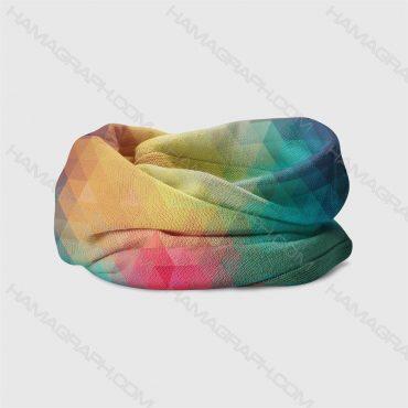 هدبند طرح colorful pyramids - هدبند طرح هرم رنگی رنگی - دستمال سر - هدبند