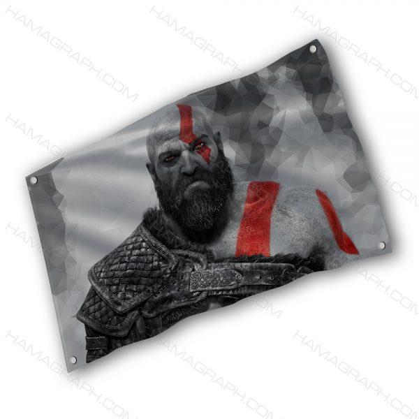 خرید بک دراپ پرچم پارچه ای با طرح GOW 2