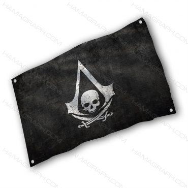 پرچم پارچه ای با طرح Assassins creed