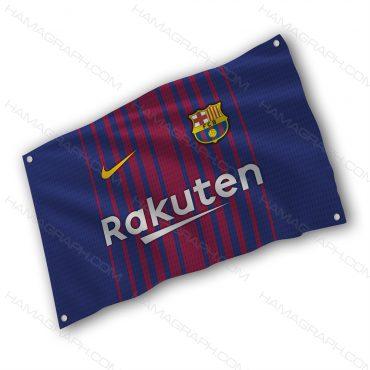 پرچم پارچه ای با طرح Barcelona
