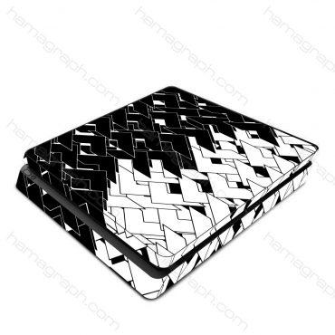 اسکین پلی استیشن طرح black & white - اسکین طرح سیاه و سفید - اسکین - استیکر
