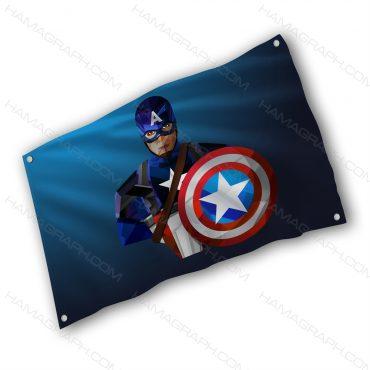 پرچم پارچه ای با طرح Captain America