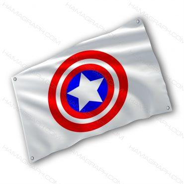 پرچم پارچه ای با طرح Captain America shield