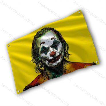 پرچم پارچه ای با طرح joker 2019 - پرچم طرح گرافیکی جوکر - خرید پرچم - پرچم