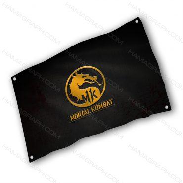 پرچم پارچه ای با طرح mortal combat - پرچم طرح مورتال کامبت - خرید پرچم - پرچم