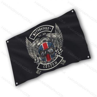 پرچم پارچه ای با طرح motorcycle - پرچم طرح موتور سیکلت - خرید پرچم - پرچم