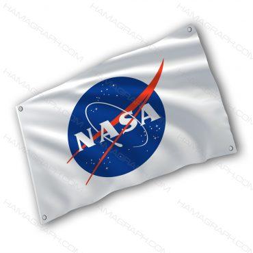 پرچم پارچه ای با طرح nasa - پرچم طرح ناسا - خرید پرچم - پرچم