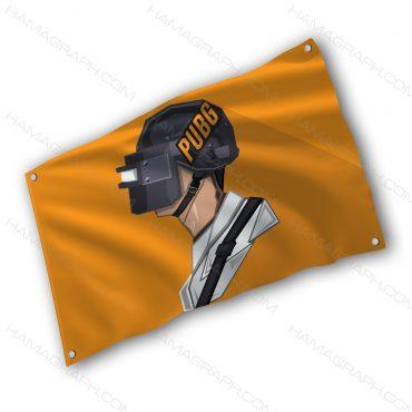 پرچم پارچه ای با طرح pubg 2 - پرچم طرح بازی پابجی - خرید پرچم - پرچم