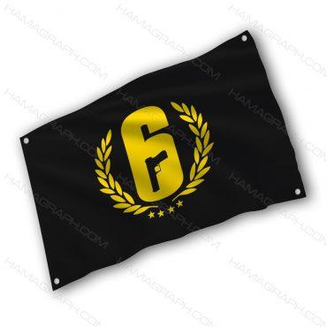 پرچم پارچه ای با طرح rainbow 6 - پرچم طرح رینبو سیکس - خرید پرچم - پرچم
