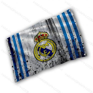 پرچم پارچه ای با طرح real madrid - پرچم طرح رئال مادرید - خرید پرچم - پرچم