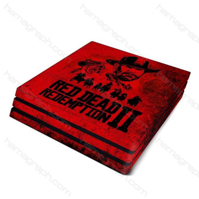 پوسته پلی استیشن با طرح red dead - پوسته با طرح رد دد ریدمپشن - اسکین - استیکر