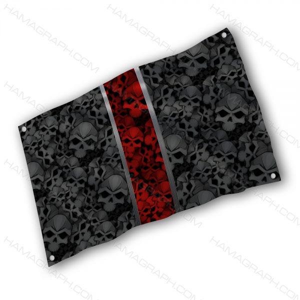 پرچم پارچه ای با طرح skulls - پرچم طرح اسکلت - خرید پرچم - پرچم