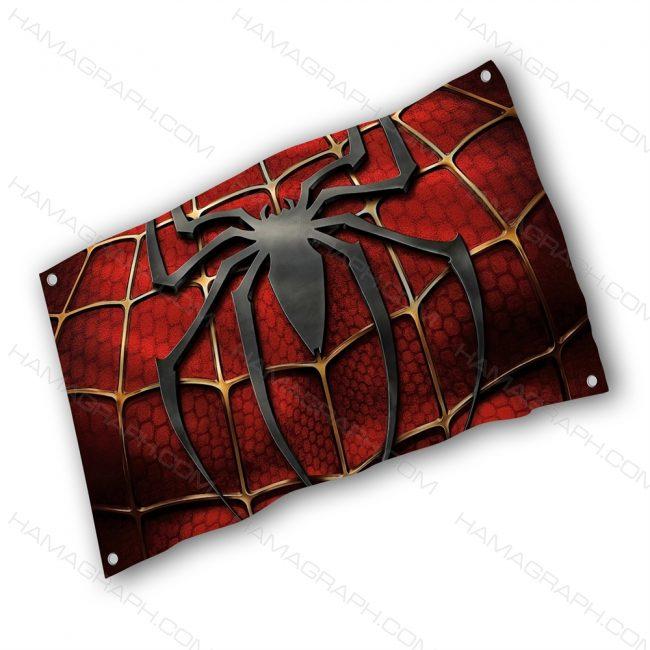 پرچم پارچه ای با طرح spider man - پرچم طرح مرد عنکبوتی - خرید پرچم - پرچم