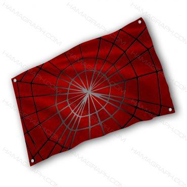 پرچم پارچه ای با طرح spider web - پرچم طرح عنکبوتی - خرید پرچم - پرچم