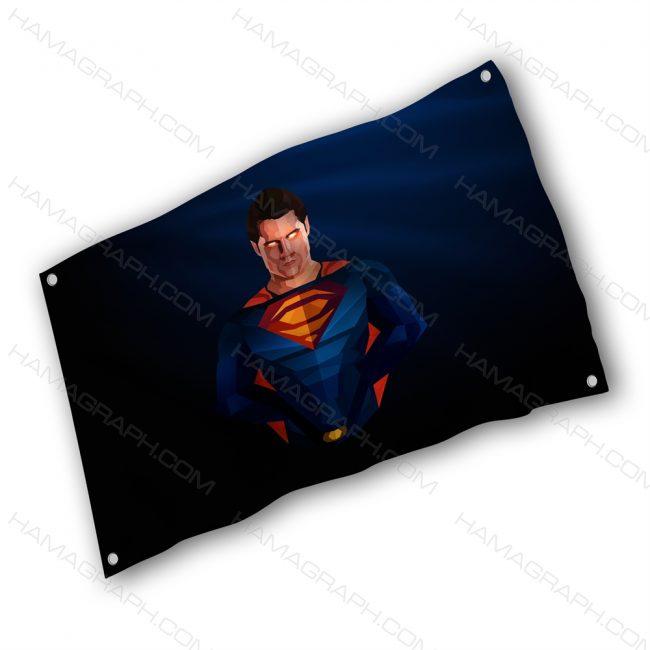 پرچم پارچه ای با طرح superman - پرچم طرح سوپرمن - خرید پرچم - پرچم