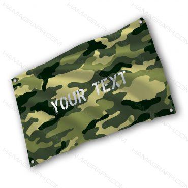 پرچم پارچه ای با طرح ur text green cam - پرچم چریکی سبز - خرید پرچم - پرچم