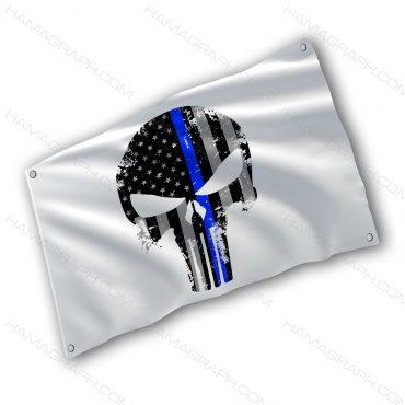 پرچم پارچه ای با طرح usa skull - پرچم طرح پانیشر - خرید پرچم - پرچم