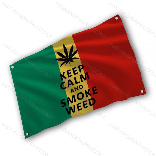 پرچم پارچه ای با طرح w33d - پرچم طرح باب مارلی - خرید پرچم - پرچم